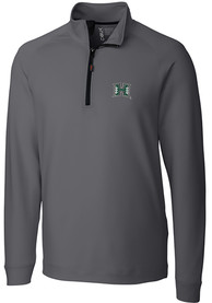 Hawaii Warriors Cutter and Buck Jackson 1/4 Zip Pullover - Grey