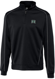 Hawaii Warriors Cutter and Buck Edge 1/4 Zip Pullover - Black
