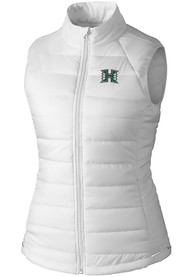 Hawaii Warriors Womens Cutter and Buck Post Alley Vest - White