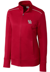 Houston Cougars Womens Cutter and Buck Ridge Full Zip Jacket - Red