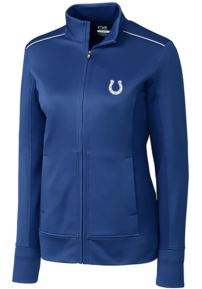 Cutter and Buck Indianapolis Colts Womens Blue Ridge Long Sleeve Full Zip Jacket - Image 1