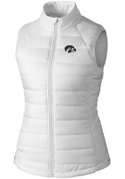 Cutter and Buck Iowa Hawkeyes Womens White Post Alley Vest