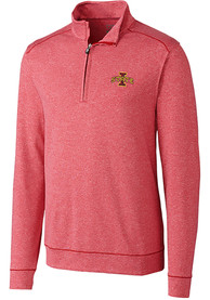 Iowa State Cyclones Cutter and Buck Shoreline 1/4 Zip Pullover - Red