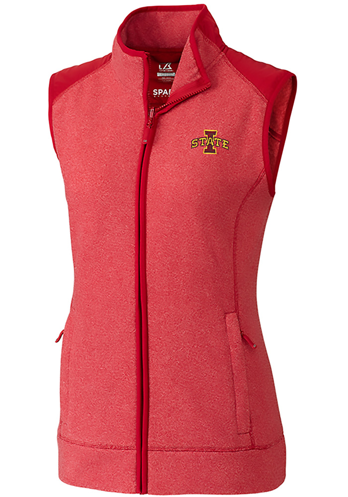 Cutter and Buck Iowa State Cyclones Womens Red Cedar Park Vest - Image 1