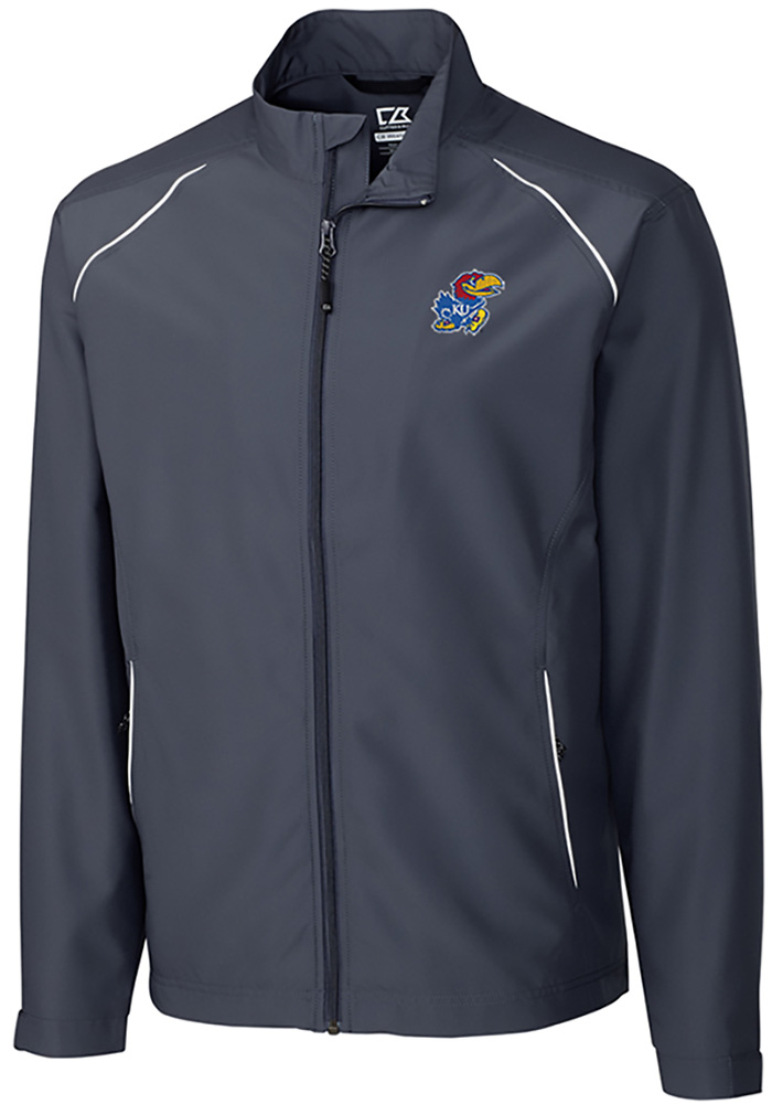 Cutter and Buck Kansas Jayhawks Mens Black Beacon Long Sleeve 1/4 Zip Pullover - Image 1