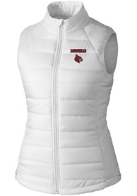 Louisville Cardinals Womens Cutter and Buck Post Alley Vest - White