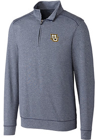 Marquette Golden Eagles Cutter and Buck Shoreline 1/4 Zip Pullover - Navy Blue