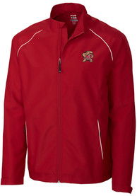 Maryland Terrapins Cutter and Buck Beacon 1/4 Zip Pullover - Red