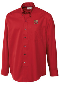 Maryland Terrapins Cutter and Buck Epic Dress Shirt - Red
