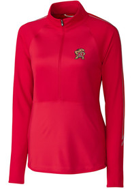 Maryland Terrapins Womens Cutter and Buck Pennant Sport Full Zip Jacket - Red