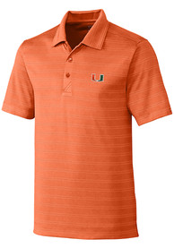 Miami Hurricanes Cutter and Buck Interbay Melange Polo Shirt - Orange