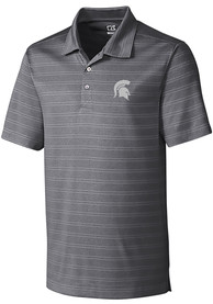 Michigan State Spartans Cutter and Buck Interbay Melange Polo Shirt - Grey