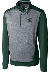 Michigan State Spartans Cutter and Buck Replay 1/4 Zip Pullover - Green