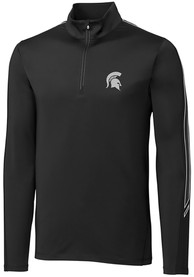 Michigan State Spartans Cutter and Buck Pennant Sport 1/4 Zip Pullover - Black