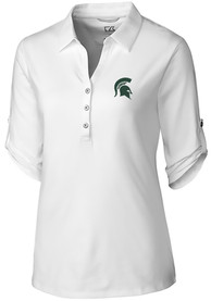 Michigan State Spartans Womens Cutter and Buck Thrive Dress Shirt - White