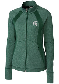 Michigan State Spartans Womens Cutter and Buck Shoreline 1/4 Zip Pullover - Green