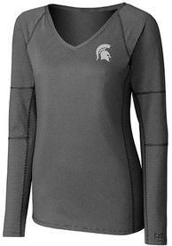 Michigan State Spartans Womens Cutter and Buck Victory T-Shirt - Black