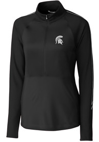 Michigan State Spartans Womens Cutter and Buck Pennant Sport Full Zip Jacket - Black
