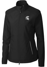 Michigan State Spartans Womens Cutter and Buck Beacon Light Weight Jacket - Black