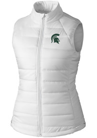 Michigan State Spartans Womens Cutter and Buck Post Alley Vest - White