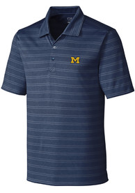 Michigan Wolverines Cutter and Buck Interbay Melange Polo Shirt - Navy Blue