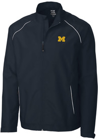 Michigan Wolverines Cutter and Buck Beacon 1/4 Zip Pullover - Navy Blue