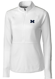 Michigan Wolverines Womens Cutter and Buck Pennant Sport Full Zip Jacket - White
