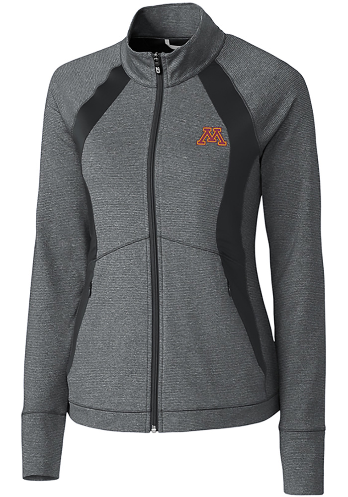 Cutter and Buck Minnesota Golden Gophers Womens Grey Shoreline 1/4 Zip Pullover - Image 1