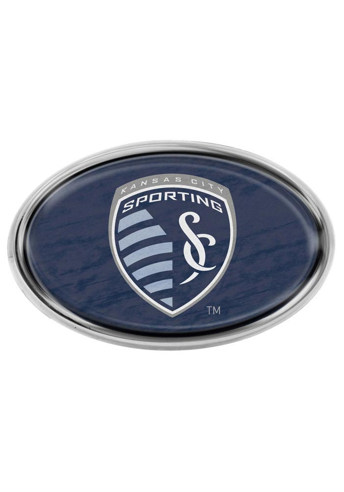 Sporting Kansas City Dark Blue Domed Oval Car Emblem - Navy Blue