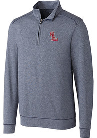 Ole Miss Rebels Cutter and Buck Shoreline 1/4 Zip Pullover - Navy Blue