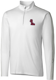 Ole Miss Rebels Cutter and Buck Pennant Sport 1/4 Zip Pullover - White