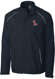 Ole Miss Rebels Cutter and Buck Beacon 1/4 Zip Pullover - Navy Blue
