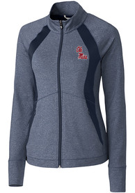 Ole Miss Rebels Womens Cutter and Buck Shoreline 1/4 Zip Pullover - Navy Blue