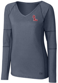 Ole Miss Rebels Womens Cutter and Buck Victory T-Shirt - Navy Blue