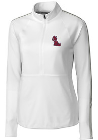 Ole Miss Rebels Womens Cutter and Buck Pennant Sport Full Zip Jacket - White
