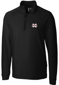 Mississippi State Bulldogs Cutter and Buck Jackson 1/4 Zip Pullover - Black