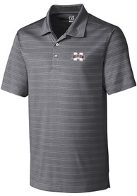 Mississippi State Bulldogs Cutter and Buck Interbay Melange Polo Shirt - Grey
