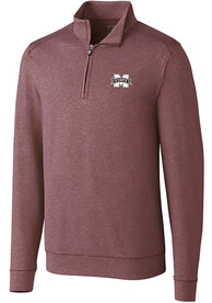 Mississippi State Bulldogs Cutter and Buck Shoreline 1/4 Zip Pullover - Burgundy