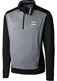 Mississippi State Bulldogs Cutter and Buck Replay 1/4 Zip Pullover - Black