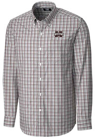 Mississippi State Bulldogs Cutter and Buck Gilman Dress Shirt - Maroon