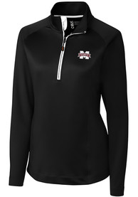 Mississippi State Bulldogs Womens Cutter and Buck Jackson 1/4 Zip Pullover - Black