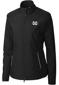 Mississippi State Bulldogs Womens Cutter and Buck Beacon Light Weight Jacket - Black