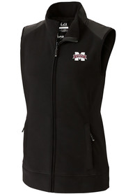 Mississippi State Bulldogs Womens Cutter and Buck Cedar Park Vest - Black