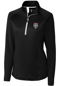 New Mexico Lobos Womens Cutter and Buck Jackson 1/4 Zip Pullover - Black