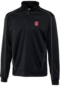 NC State Wolfpack Cutter and Buck Edge 1/4 Zip Pullover - Black