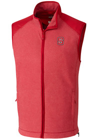 NC State Wolfpack Cutter and Buck Cedar Park Vest - Red