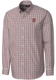NC State Wolfpack Cutter and Buck Gilman Dress Shirt - Red