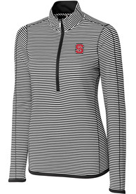 NC State Wolfpack Womens Cutter and Buck Trevor Stripe Full Zip Jacket - Black