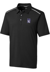 Northwestern Wildcats Cutter and Buck Fusion Polo Shirt - Black