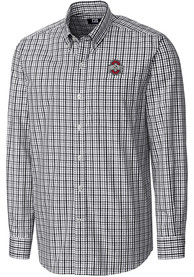 Ohio State Buckeyes Cutter and Buck Gilman Dress Shirt - Black